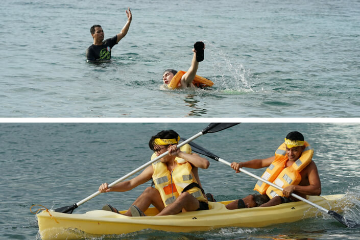 Kayak-swim-race