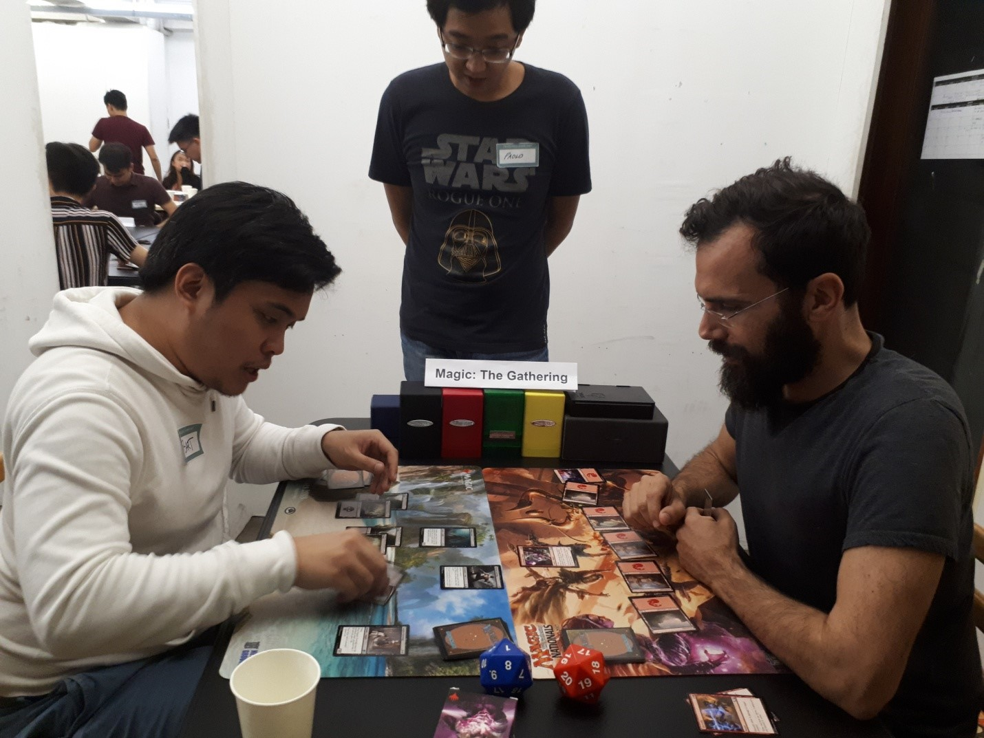 Truelogic CEO Itamar Gero, on the right and account manager Marc Joseph Bartolome, on the left; me, content writer Paolo Torres, in the middle. A grudge match may be in the offing.